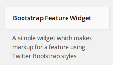 Bootstrap Feature Widget example 1