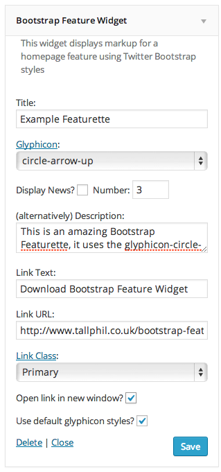 Bootstrap Feature Widget example 2